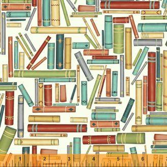 Tissu patchwork manuscrits anciens fond écru - Purrfect Day