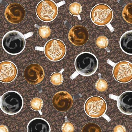 Tissu patchwork tasses de café - Coffee Shop