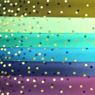 6 coupons de tissus dégradés Ombre Confetti - couleurs froides