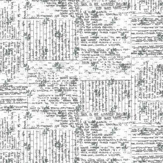 Tissu patchwork écritures - Norma Rose