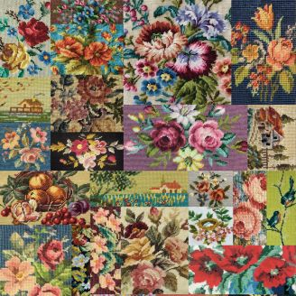 Tissu patchwork imitation canvas - Flea Market Mix