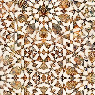 Tissu patchwork moisaïque ocre et écru - Paradox