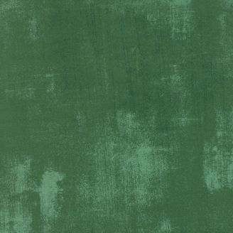 Tissu patchwork faux-uni patiné vert conifère - Grunge de Moda_
