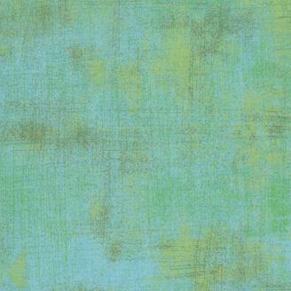 Tissu patchwork faux-uni patiné turquoise enchanteur - Grunge de Moda