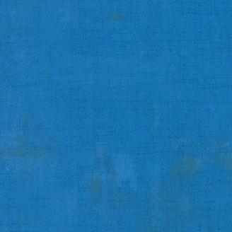Tissu patchwork faux-uni patiné bleu saphir - Grunge de Moda_