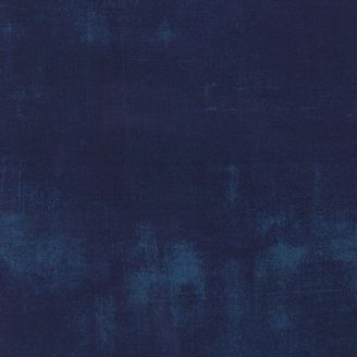 Tissu patchwork faux-uni patiné bleu Navy - Grunge de Moda