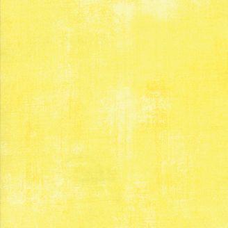 Tissu patchwork faux-uni patiné jaune bonbon - Grunge de Moda
