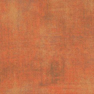 Tissu patchwork faux-uni patiné orange Fandango - Grunge de Moda