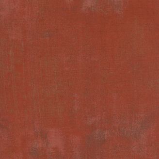 Tissu patchwork faux-uni patiné brun terre cuite - Grunge de Moda