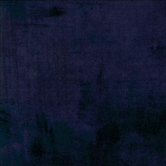 Tissu patchwork faux-uni patiné bleu graphite - Grunge de Moda