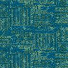 Tissu patchwork recettes de cuisine écritures fond bleu canard - Norma Rose