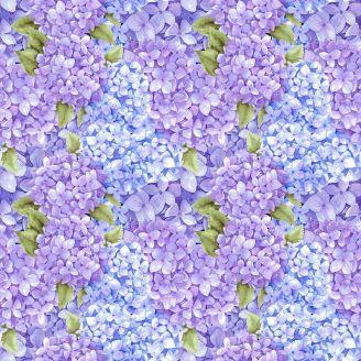Tissu patchwork libellules et petites fleurs - Midnight Hydrangea