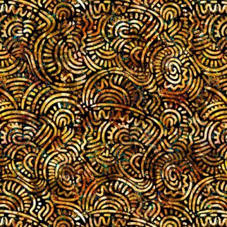 Tissu patchwork fossiles marrons - Prehistoric