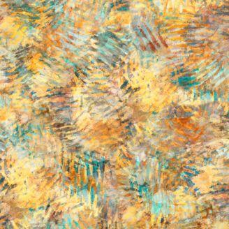 Tissu patchwork taches de pigments jaunes - Prehistoric