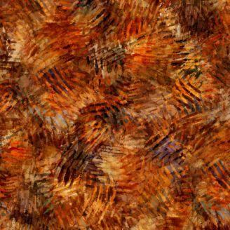 Tissu patchwork taches de pigments marrons - Prehistoric