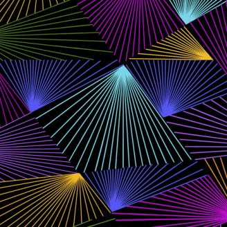 Tissu patchwork stroboscopes - Festival