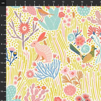 Tissu patchwork animaux de la forêt - Prickly Pear