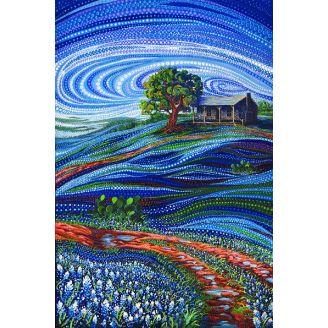 Panneau de tissu patchwork paysage fleuri - Dreamscapes