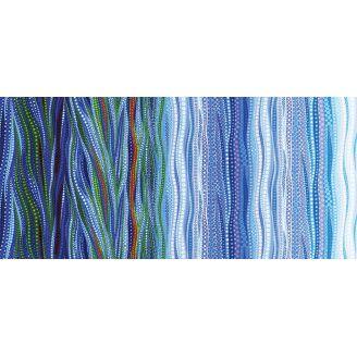 Tissu patchwork dégradé nuances bleues - Dreamscapes