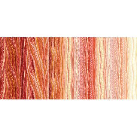 Tissu patchwork dégradé nuances corails - Dreamscapes