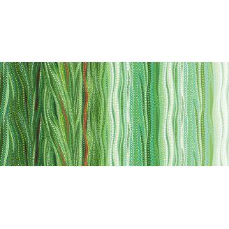 Tissu patchwork dégradé nuances vertes - Dreamscapes