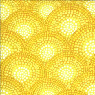 Tissu patchwork motif écailles jaunes effet mosaïque - Dreamscapes