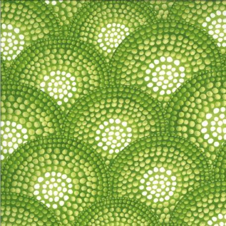 Tissu patchwork rosaces vertes en mosaïque - Dreamscapes