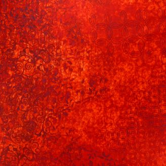 Tissu patchwork faux-uni Scrollscapes Rouge