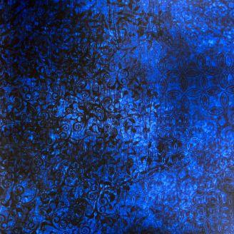 Tissu patchwork faux-uni Scrollscapes Indigo
