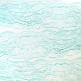 Tissu patchwork Shell Rummel vagues turquoises aquarelle - Time and Tide