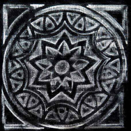 Plaque texturée kaléidoscope rosace 20