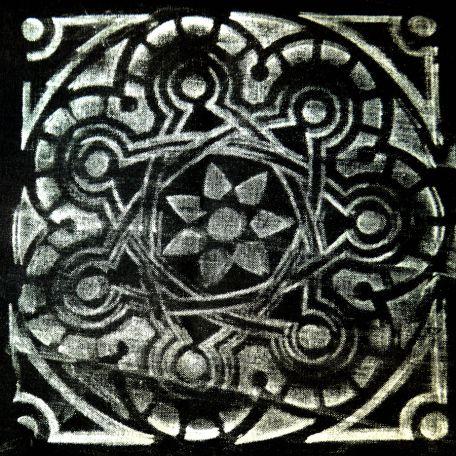 Plaque texturée kaléidoscope rosace 21
