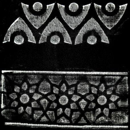 Plaque texturée kaléidoscope frises 24