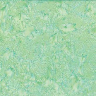 Tissu batik marbré vert doux