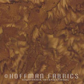 Tissu batik marbré brun pécan