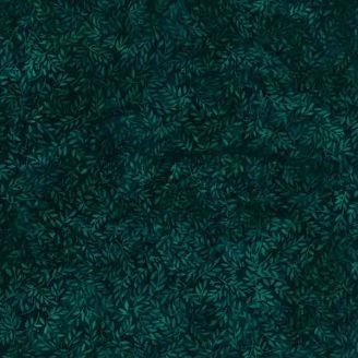 Tissu batik buisson vert émeraude foncé