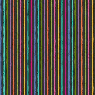 Tissu patchwork traits à la craie multicolore - Katie's cats