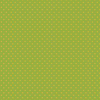 Tissu patchwork pois jaune fond vert - Katie's cats