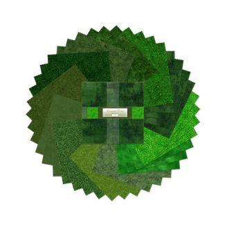 Layer Cake de tissus verts ton-sur-ton Emerald Forest