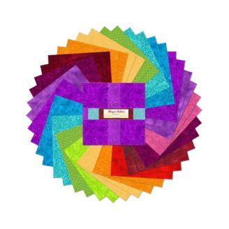 Layer Cake de tissus faux-unis multicolores Magic Colors