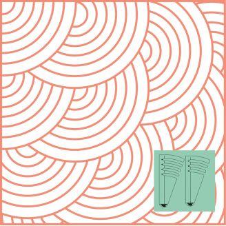 """Set de Cercles n°4 de 12"""" à 18 1/2"""" de diamètre - Règle à quilter Westalee"""