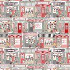 Tissu patchwork vitrines de magasins