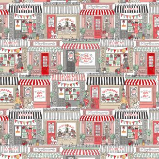 Tissu patchwork vitrines de magasins - Pamper