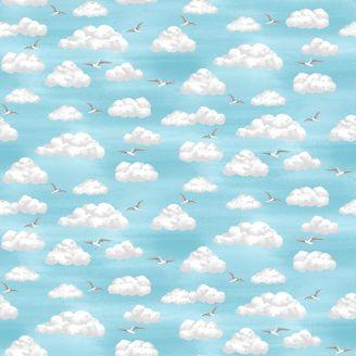 Tissu patchwork ciel bord de mer