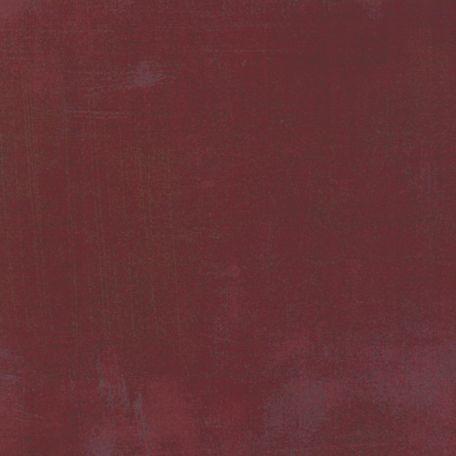 Tissu patchwork faux-uni patiné rouge bourgogne - Grunge de Moda