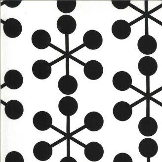 Tissu patchwork grande astérisque noire fond blanc - Quotation de Zen Chic