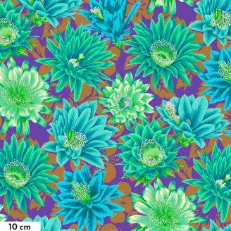 Tissu patchwork Philip Jacobs Fleur de Cactus PJ096 émeraude