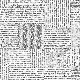 Tissu patchwork grande largeur textes en noir et balnc (270 cm)