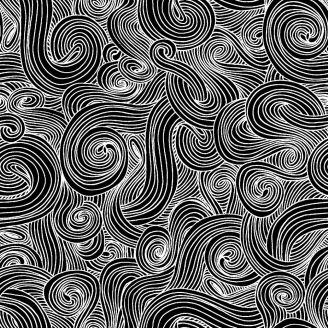Tissu patchwork entrelas noirs