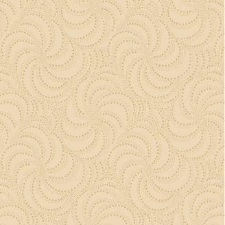 Tissu patchwork spirales ton sur ton crème
